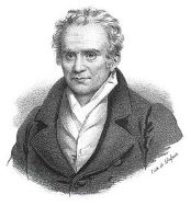 Gaspard Monge représenté sur une lithographie de François Delpech d'après Henri-Joseph Hesse.